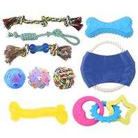 10Pcs/Set Pet Dog Toy TRP Cotton Rope Gnawing Toy Knitting Tooth Cleaning Dog Toys Pet Supplies