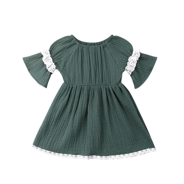 bc80fcf4ff3 Fashion Toddler Kids Baby Girls Lace Dress Clothing 6M-4T Infant Princess Long  Sleeve Casual Summer Dress Clothes