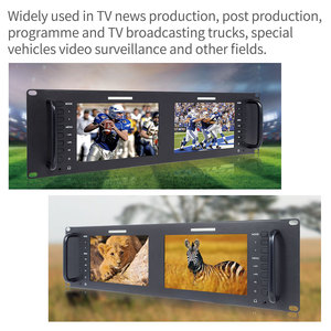 Image 2 - Feelworld D71 H Dual 7 inch HDMI AV 3RU Rack Mount Broadcast Monitor IPS HD 1280x800 LCD Displaying Thin Design with LAN In Port