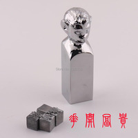 Fashion Chrome Plated Monkey Shape Alloy Seal Stamps Unique Design For Scrapbooking Collection
