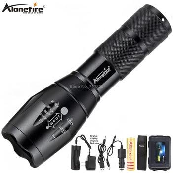 Фонарик Alonefire G700 X800 CREE XML T6 L2 U3, светодиодный тактический фонарь высокой мощности с увеличением, перезаряжаемый аккумулятор AAA 18650