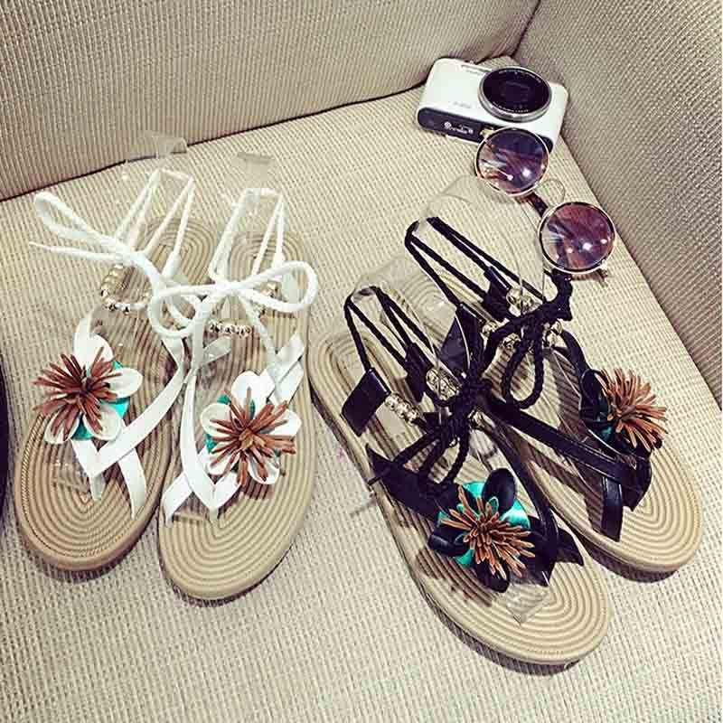 Frauen Schuhe Neue Mode Damen Strand Sandalen Nette Blume Sandalen Frauen Schönheit Casual Wohnungen Chic Sommer Schuhe Schuhe