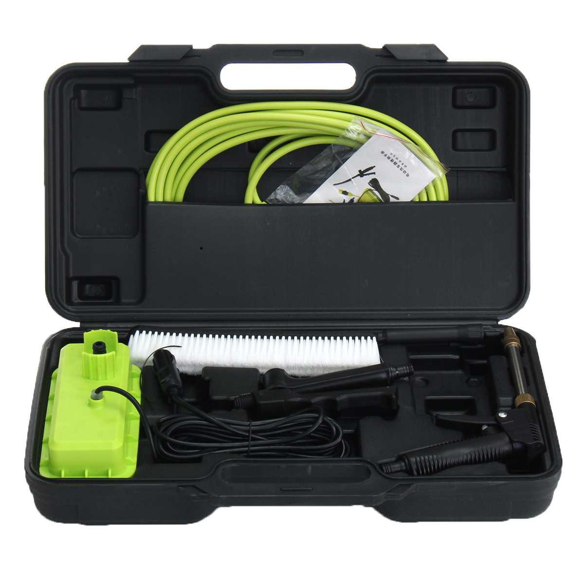 12V Car Washer Gu n High Pressure Cleaner Car Care Washing Machine Electric Cleaning Auto Wash Maintenance Tool Set