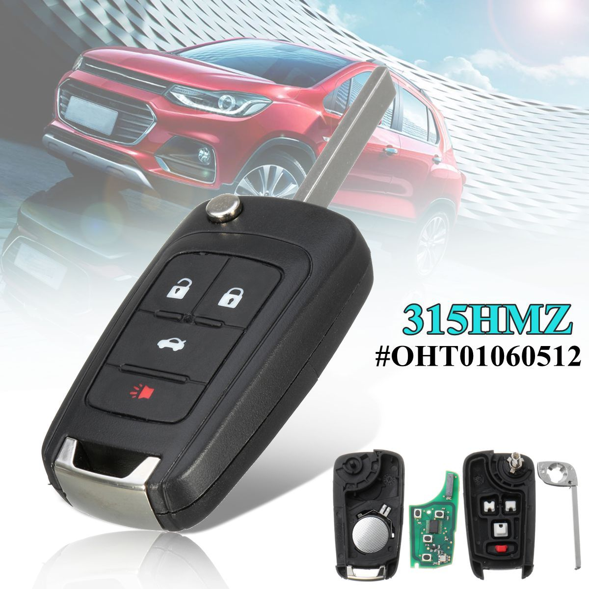 4 Buttons Car Remote Entry Fob Control Flip Key Fob 315HMZ For Buick/GMC/Chevy #OHT010605124 Buttons Car Remote Entry Fob Control Flip Key Fob 315HMZ For Buick/GMC/Chevy #OHT01060512