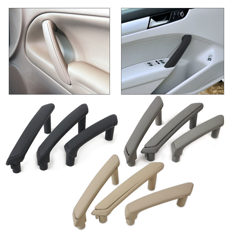 Door Pull Grab Handle fit for VW Passat B5.5 98-05 Left/&Right Side Plastic 3Pcs