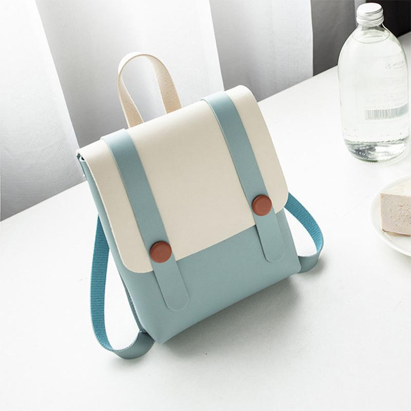 PinShang Backpack Women Mini Leather Female Solid Color Schoolbag Small Travel Backpack With Handle Shoulder Bag Bags For Women