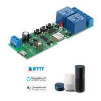EWeLink Wifi inteligente interruptor módulo Universal 2CH USB DC5V/7-32V inalámbrico interruptor temporizador teléfono aplicación remota de Control para casa inteligente