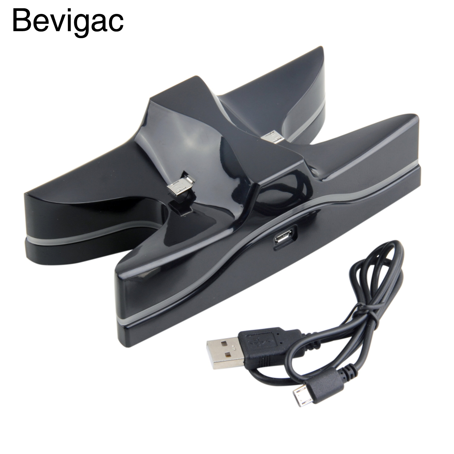 Bevigac Dual Charging Stand Dock Station for Sony PlayStation PS4 Play Station PS 4 Controller Console Game Charger Accessories