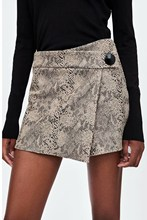 2019 Women Fashion Snake Print Short Skirt High Waisted Sexy Shorts Retro Street