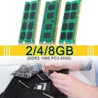 2 gb 4 gb 8 gb memória do portátil para ram ddr3 1066 PC3-8500 1.5 v 204pin SO-DIMM lote