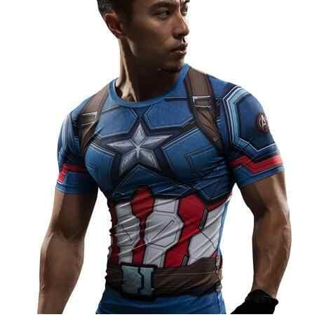 Сокол футболка Капитан Америка Civil War футболка футболки с 3D-принтом для мужчин сжатия Мстители 3 короткий рукав Мужская одежда для фитнеса