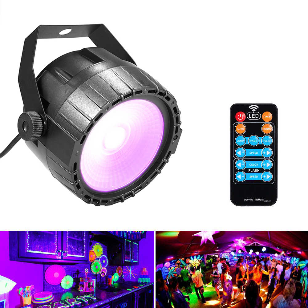 Для бары для вечеринок Показать Дискотека 10 W RGB УФ монолитный блок светодиодов свет Беспроводной дистанционное управление яркий Гладкий освещения лампы DJ прожектор dmx
