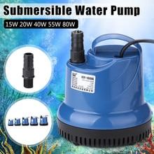שקט 15/20/40/55/80W 220V טבולה משאבת מים דגי טנק במחזור אקווריום מזרקה הידרופוני בטיחות אנרגיה לחסוך מסנן