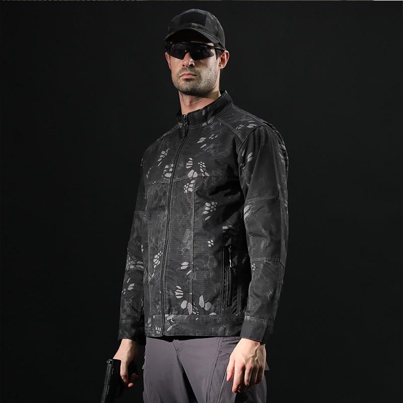 c8501eea1a1 Мужская водонепроницаемая флисовая куртка в стиле милитари тактическая  куртка из мягкой кожи камуфляжные мужские ветровки