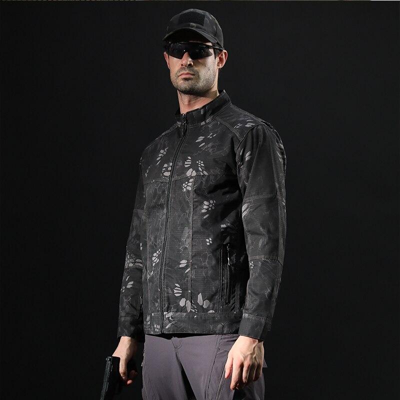 Veste polaire militaire anti-boulochage imperméable pour hommes veste Softshell tactique armée Camouflage coupe-vent homme