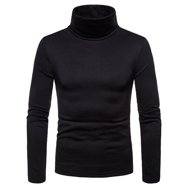 Slim Fit Knitted Pullover Turtleneck Casual Sweater 4