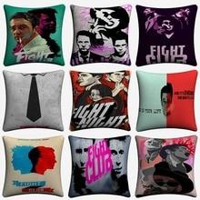 Fight Club Classic Movie Artwork Decorative Cotton Linen Cushion Cover 45x45cm For Sofa Chair Pillowcase Home Decor Almofada