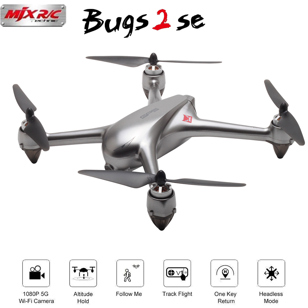 MJX B2SE GPS Brushless Motor RC Drone 1080P HD Camera 5G WiFi FPV Precise GPS Altitude Hold Smart Flight RC Quadcopter VS B5W-in RC Helicopters from Toys & Hobbies