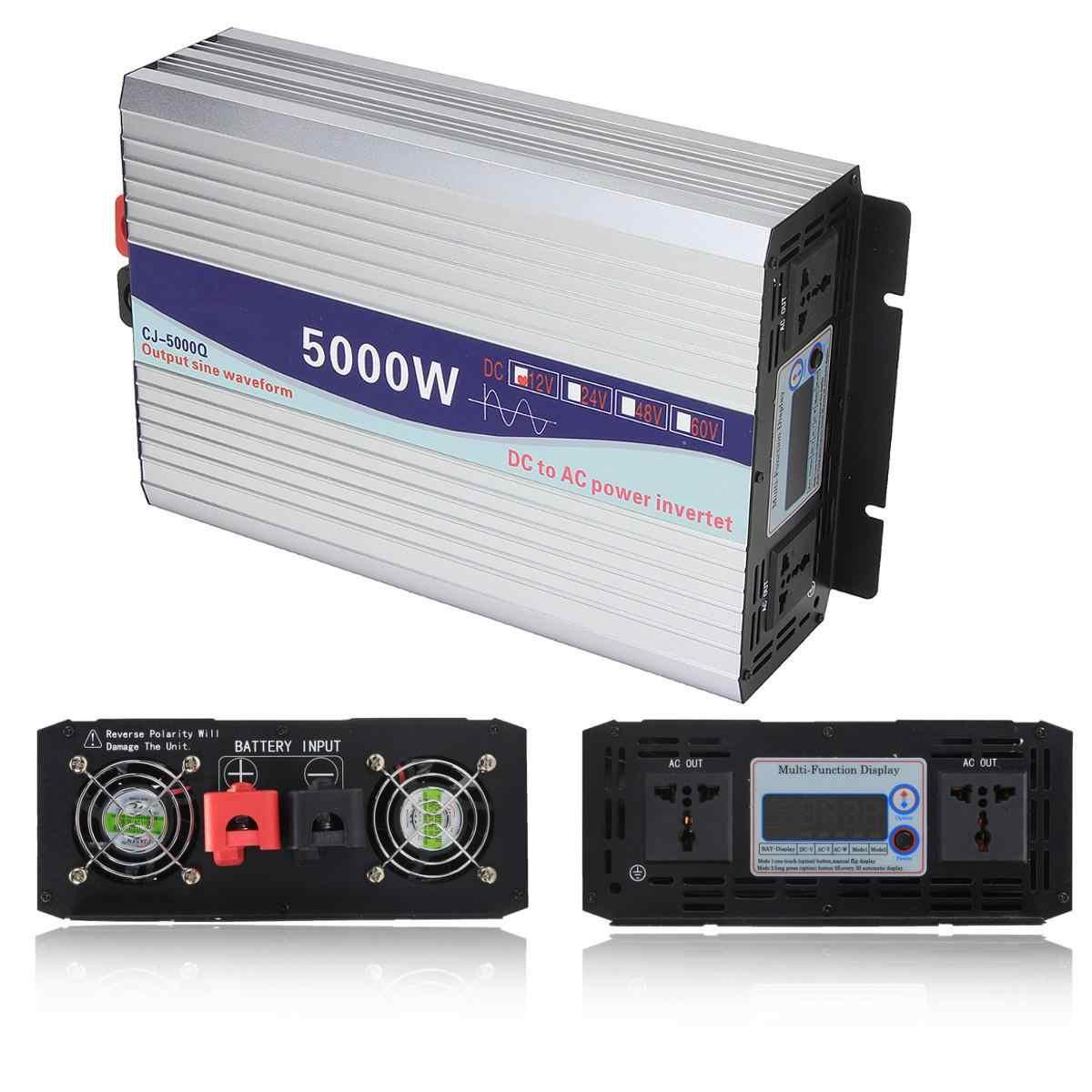 العاكس 12 فولت/24 فولت إلى التيار المتناوب 220 فولت 3000/4000/5000/6000 واط محول الجهد موجة جيبية نقية عاكس الطاقة محول LED العرض
