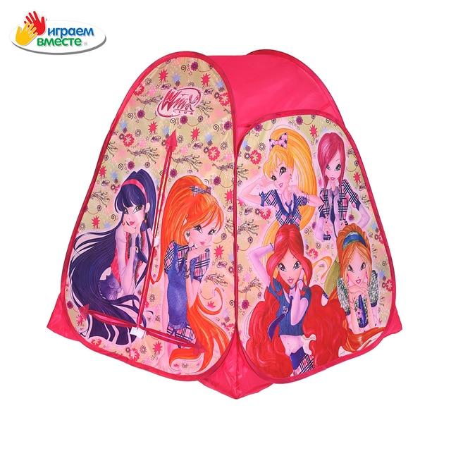 Палатка детская игровая ИГРАЕМ ВМЕСТЕ Winx, 81х90х81см, в сумке, доставка от 2-х дней