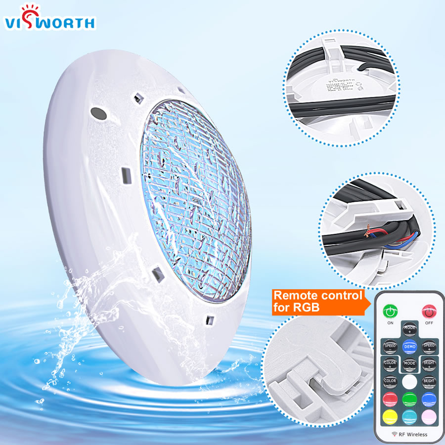24W 36W UnderWater Light AC/DC 12V RGB+Remote Controller Outdoor Lighting IP68 Waterproof Swimming Pool Light Par56 Led Pond