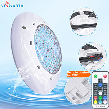 24W 36W UnderWater Light AC/DC 12V RGB+Remote Controller Outdoor Lighting IP68 Waterproof Swimming Pool Light Par56 Led Pond hot sale stainless steel pc remote control underwater light ip68 par56 72w rgb ac12v led swimming pool light safe in used