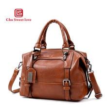 Bolsas Feminina Real Zipper Solid Pattern Pu Leather Shoulder Bag Japan And South Korea Wind Boston Handbag 2018 Mainstream New