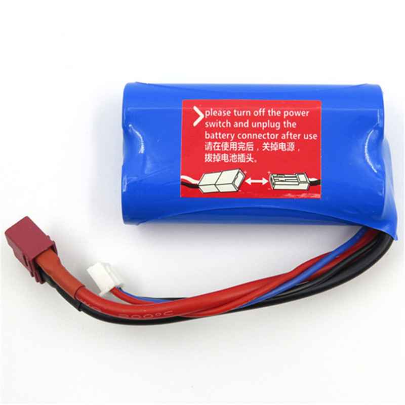 Wltoys 7.4V 1500mAh 15C 2S Lipo Battery T Plug for 12428 12423 A939 Rc Car Parts image