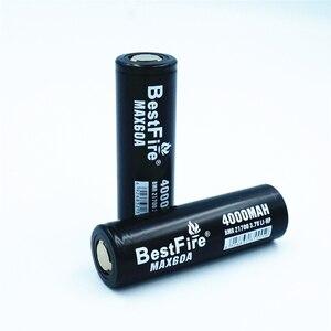 Image 4 - 1 pcs BESTFIRE 60A IMR 21700 4000 mah Flat Top Bateria de Lítio Recarregável para ECIG lanterna brinquedo carro notebook Li ion batteris
