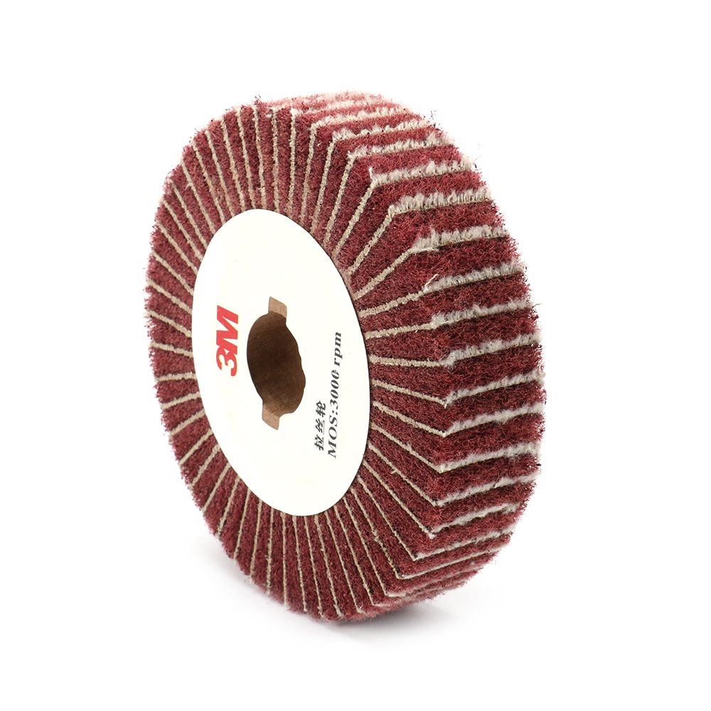 4''-12'' Non-woven Scouring Pad Grinding Wheel Flap Mop Polishing Wheel Disc 320Grit 25mm Thickness 20mm Bore Diameter