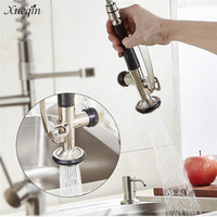 Xueqin Silver Stainless Steel Commercial Kitchen Faucet Accessories Pre Rinse Faucet Tap Spray Head Sprayer