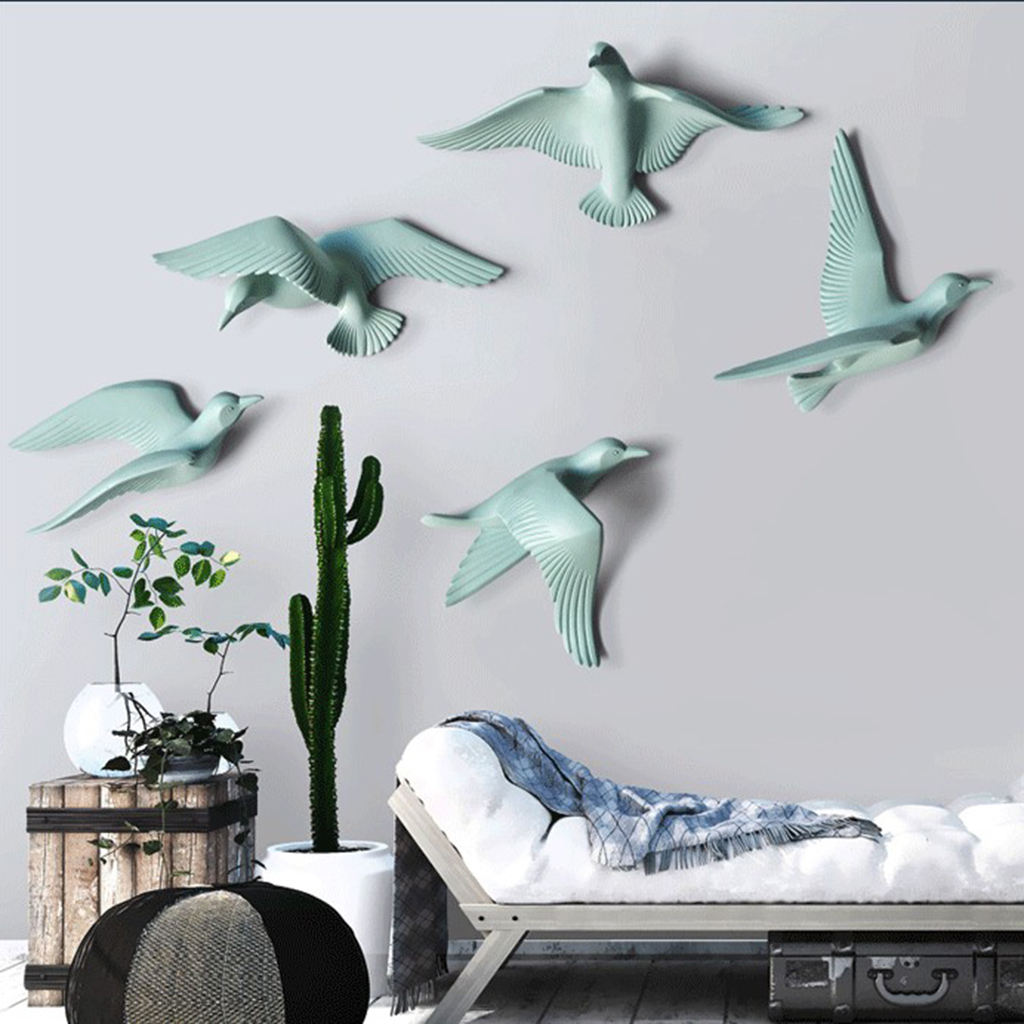 Resin Bird Wall Decor Wall Stickers Seabirds Perfect For Bar Pendant Nautical Decor Seagull Stickers Decorations Bedroom Decor