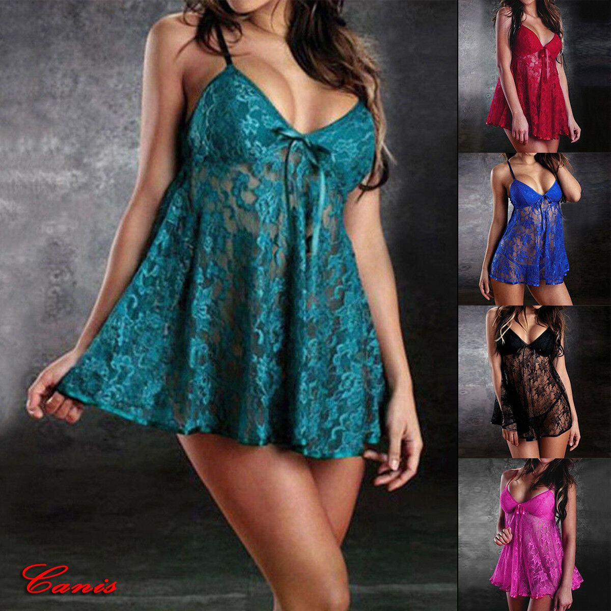 Womens <font><b>Sexy</b></font> Teddy <font><b>Lingerie</b></font> Babydoll <font><b>Push</b></font> <font><b>Up</b></font> Lace Babysuit G-String Nightwear US image