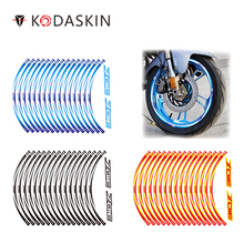 KODASKIN 2D Printing Motorcycle wheel travel protection sticker wheel sticker decal for zontes 310X 2 pairs komori printing machinery spares printing wheel length 19 2cm feeder wheel