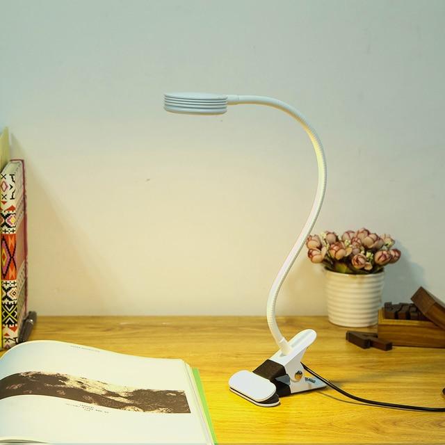Tranform color Led Desk Lamp 360 degree adjustable led Clip desk light Flexible LED Reading Lamp 5V USB Powered LED book 5W