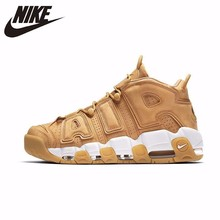 Nike Air More Uptempo 96 Wheat Original New Arrival Men Breathable Basketball Shoes Sports Outdoor Sneakers #AA4060-200