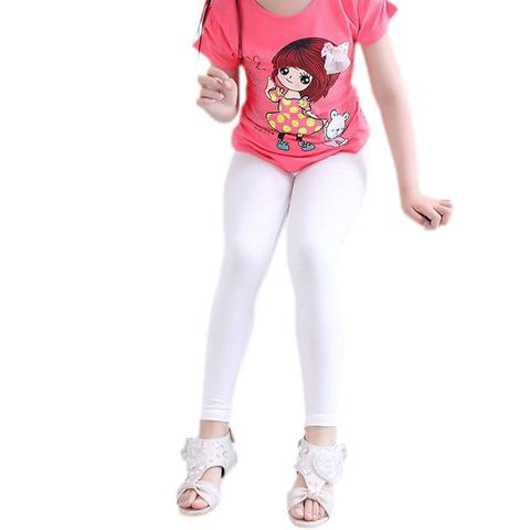 Kidlove Girls Modal Leggings Elastic Solid Color Stain-proof Ninth Pants Trousers Lahore