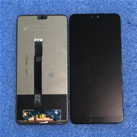 Original Axisinternational For 5.8 Huawei P20 AL00 P20 EML L29 L22 LCD Display Screen+Touch Panel Digitize+ Fingerprint button