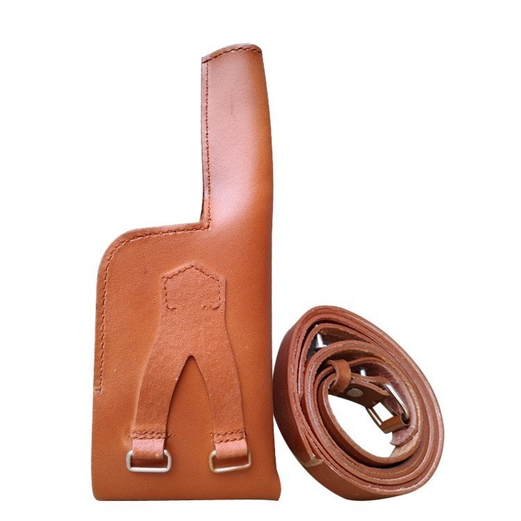WW2 WWII German For Mauser Gun C96 Leather Holster With Strap Vero Cuoio  Broomhandle Collectiable