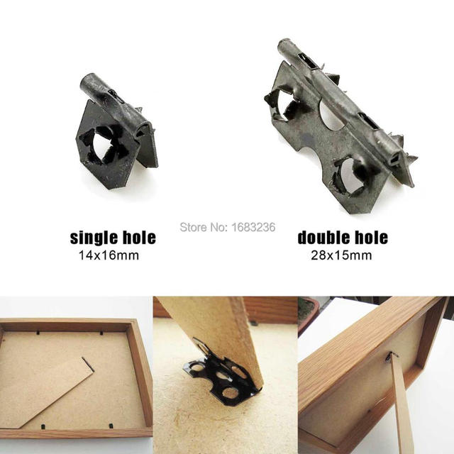 Us 719 10 Off50pc Fix Picture Photo Art Work Frame Back Board Backboard Support Stand Leg Feet Barbed Hinge Single Double Hole Fitting Attac In