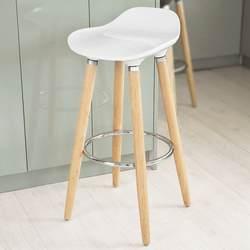 SoBuy FST34 ABS пластиковый барный стул, кухня завтрак стул с деревянными ножками
