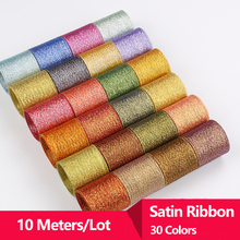 10 Meters Satin Double Face Ribbons DIY Silk Roses Sewing Supplies Craft Ribbon 6mm Grosgrain 3mm Bow