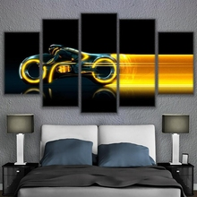 5 Panel Frame Abstract Modular Motorcycle Picture Canvas Wall Art Painting Home Decor Living Room Print Modern