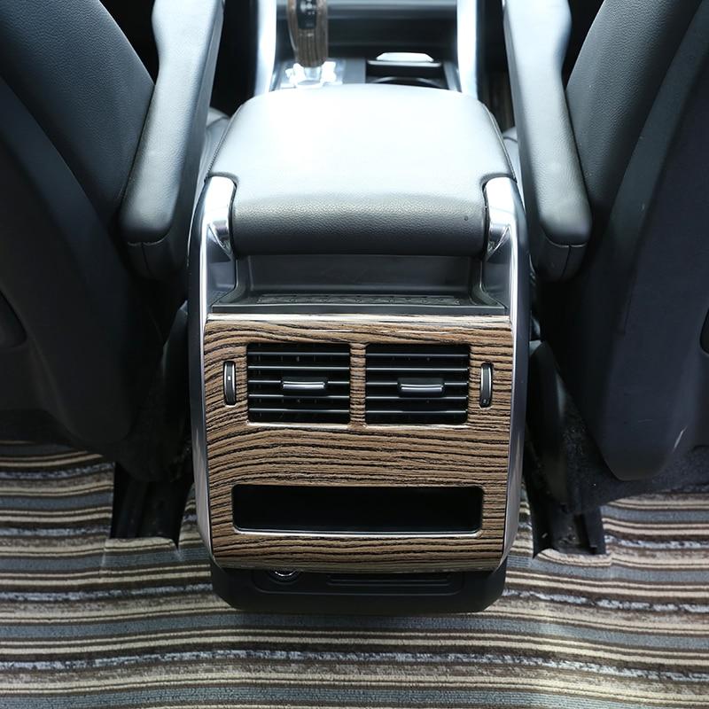 1 шт. ABS пластмассовый задний ряд AC выход рамка Крышка отделка пески древесины зерна для Land rover Range Rover Sport Range rover Sport 2014-2017