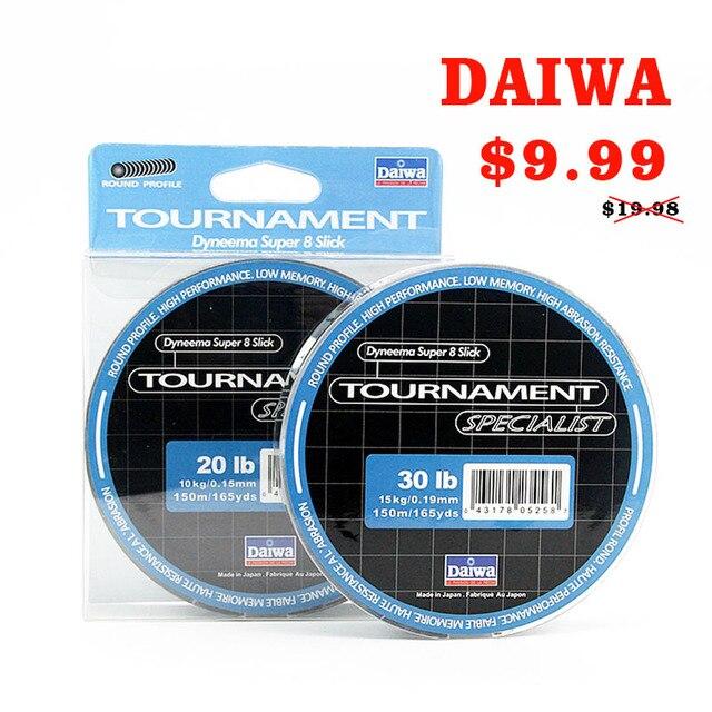 DAIWA 8 Braided Fishing Line   Length:150m/165yds, Diameter:0.1mm 0.4mm,size:13 88lb Japan PE braided line