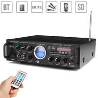 220v 12v 500w Bluetooth Power Stereo Amplifier VU Meter FM 2CH USB SD Karaoke Amplifiers Bluetooth Car Amplifier Car Subwoofer