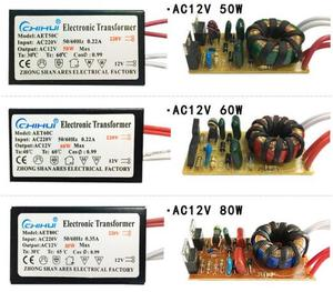 Image 4 - 3 jahre garantie Elektronische Transformator AC 220V AC12V für Halogen Lampe Kristall G4 Glühbirne 20W 40W 50W 60W 80W 105W 120W 160W