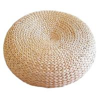 Thicken Natural Tatami Cushion Convenient And Durable Bay Window Cushion Straw Mat With Hooks For Easy Storage