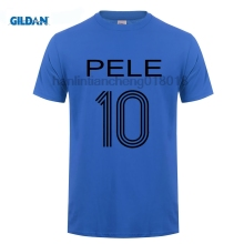 GILDAN PELE T SHIRT S  XXL BRAZIL SANTOS KING OF FOOTBALLER RETRO BRASIL CAMISETA Printed Shirt Pure Cotton Men Top Tee