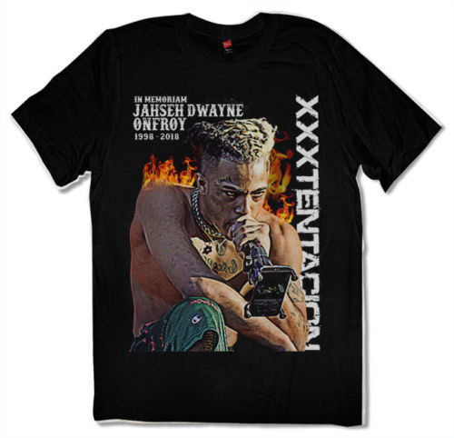 2019 New RIP XXXTENTACION Revenge Tour Onfroy T-shirt Hip Hop Rap Tee Black S-3XL Fashion Cool Mens T-Shirts O-Neck Tee Shirt